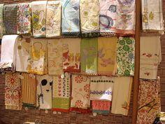 anthropologie tea towels by Skitzo Leezra, via Flickr