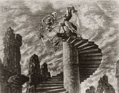 """"""" Ray Harryhausen's production drawing for 'The Seventh Voyage of Sinbad' """" Fantasy terrain inspiration Jason And The Argonauts, Concept Draw, Creature Drawings, Sinbad, Amazing Drawings, Amazing Sketches, Arabian Nights, Stop Motion, Surreal Art"""
