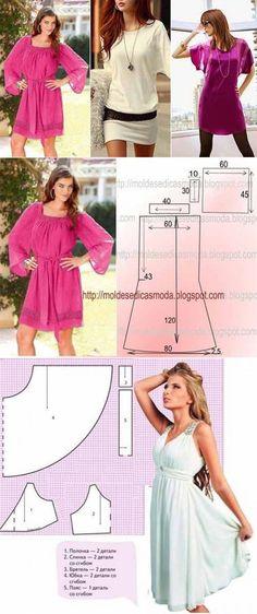 И снова летние платья - простые выкройки | Искусница // Любовь Никитина