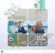Forever Love Scrapbook Layout by Cari-Locken-for-Silhouette