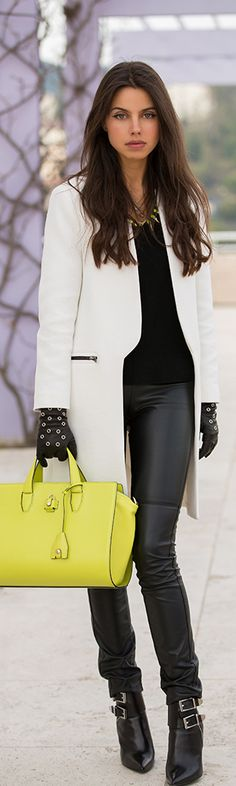 Alexander Wang.../ Suggestion ~ Loose the yellow bag and go black, or stunning white leather of medium size, wow, even a combination of black and white... now, that would be cool... ~bl~.../