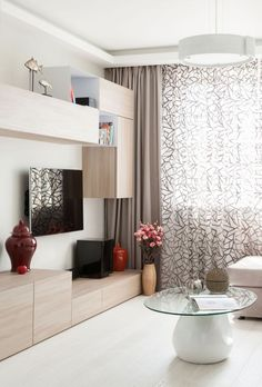 Home Interior Design ~ Want To Know About Interior Design? Keep Reading -- Hope that you like the image. Living Room Modern, Home Living Room, Interior Design Living Room, Living Room Designs, Living Room Decor, Decor Room, Home Decor, Modern Curtains, Patterned Curtains