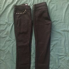 Levis 524 Black Skinny Jeans Worn each pair only once. I realized that I didn't wear these enough to justify keeping them. Looking for a great new home! No rips, stains, or tears. Comes from a smoke free and animal free home. Not sure what size these are but they are at least a size 6 in womens. Levi's Pants Skinny