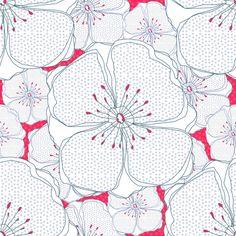 Pink Fresh flowers fabric by sandeehjorth on Spoonflower - custom fabric