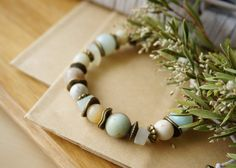 This listing is for the Bohemian Mint Tender Shamballa Style Spring Bracelet, Boho Chic Gypsy Beach Bracelet, Jasper Aquamarine Jade Bracelet.  The