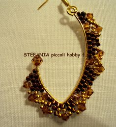 Beautiful brick stitch earring! Stefania