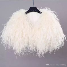 Details about Real Ostrich Feather Fur Handmade Shawl Shrug Jacket Vest Wedding bolero ! - SALLA Winter Wedding Coat, Wedding Fur, Wedding Cape, Wedding Jacket, Wedding Shawl, Wedding Ideas, Trendy Wedding, Wedding Inspiration, Feather Cape
