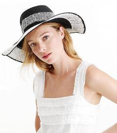 J.Crew Colorblock Straw Hat