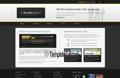 CSS Templates - Black Media Business CSS Template Design #css #csstemplates #media #black