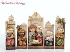Nacimiento / Nativity Set                                                                                                                                                     Más Christmas Nativity Set, Polymer Clay Christmas, Nativity Scene Sets, Nativity Scenes, Tole Painting, Ceramic Painting, All Things Christmas, Christmas Time, Christmas Crafts