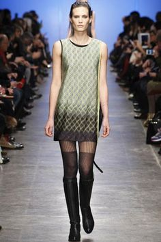 Missoni *** Textured Tights and Knee-High Boots *** Mixing textures creates a wonderful aesthetic contrast to your outfits. When it comes to patterned leg wear, pairing them with a knee-high boot keeps the style from veering into overly prim waters. #refinery29