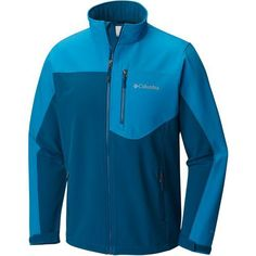 Columbia Sportswear Men's Prime Peak Softshell Jacket (Black/Medium Blue, Size Large) - Men's Outerwear, Men's Ski Outerwear at Academy Sports