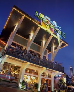Escape to Jimmy Buffett's Margaritaville, in the center of Universal Orlando CityWalk. From a volcano flowing with margaritas to suspended airplanes, Margaritaville is more than a restaurant; it's a state of mind. Margaritaville has everything you need to have a good time: great island-inspired food, four unique bars, live music and two levels of outdoor seating overlooking CityWalk. Chill out with a margarita on the Porch of Indecision or dip your toes in the sand at the Lone Palm Airport.