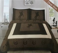 Western Comforter Sets, Bedding Sets, Pillow Shams, Pillows, Cozy Corner, Quilt Sets, Bed Spreads, 3 Piece, Comforters