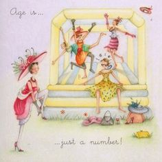 Age Is Just A Number Birthday Berni Parker Designs Card  £2.75 - FREE Postage!