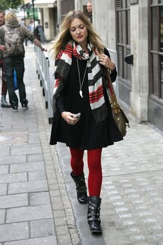 red tights & black