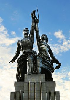 Statue of worker and collective farm worker, Moscow.