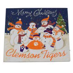 clemson christmas lighted canvas