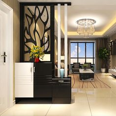 Wooden Partition Design, Wooden Partitions, Living Room Partition Design, Living Room Divider, Living Room Tv Unit Designs, Room Partition Designs, Room Door Design, Home Room Design, Hall Interior Design