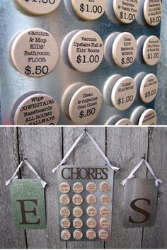 Chore incentive list