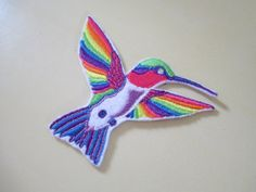 Lisa Frank Hummingbird Iron On Patch by BleuBelleMaison on Etsy, $18.00
