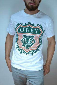 Camisa blanca marca OBEY