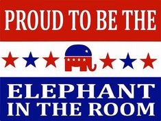 Proud to Be The Elephant in the Room Metal Sign by HomeBodyAccents