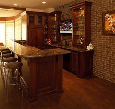 Basement bar. Basement ideas I love this one.... looks nice