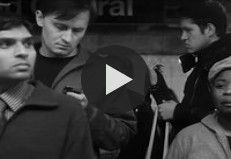 Adam Magyar captured New Yorkers standing on the the platform at Grand Central station with a slow motion camera. High speed video recording in NYC at Grand Central.