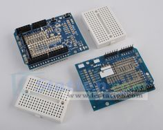 Prototype Shield ProtoShield Mini Breadboard For Arduino UNO R3($5.11 + Free Shipping)http://www.icstation.com/product_info.php?products_id=1538  The item is as the picture discribled. It is completely compatible with Arduino Uno R2. It can also use on Arduino Uno R3 development board, but 2x2 headers can't be used.