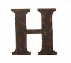 Metal Letter, H