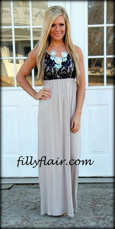 Black and Taupe (http://www.fillyflair.com/a-love-story-maxi-dress-in-navy-and-taupe/)