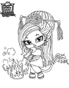 monster high baby coloring pages dessin de monster high - Monster High Chibi Coloring Pages