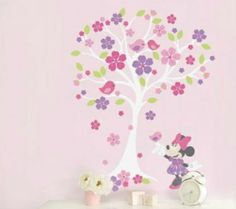 9 Beautiful Minnie Mouse Love Blossoms Nursery Decor Ideas - Wall Decals