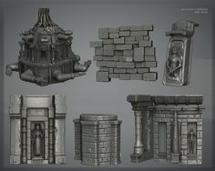 Uncharted 3 zbrush renders