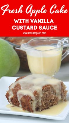 cake is so moist, so yummy and the fresh apples add so much juiciness and f. -This cake is so moist, so yummy and the fresh apples add so much juiciness and f. Strawberry Desserts, Apple Desserts, Apple Recipes, Fall Recipes, Holiday Recipes, Easy No Bake Desserts, Best Dessert Recipes, Easy Desserts, Delicious Desserts