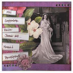 bold 50's wedding layout