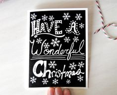 Christmas Card  Wonderful  Tree Free  eco by ElisabethNicole, $4.00