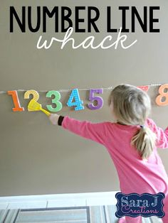 """Building Number Sense Number Line Whack is a fun way to practice identifying numbers. Give your students a number line and a fly swatter. You can have your students just find the different numbers or you can make it a little trickier. I've designed 24 cards to use when playing Number Line Whack. Each card has a question prompt and the students have to find the correct number. The cardsinclude questions such as """"Find the number _____"""" """"What comes after ____"""" """"What comes before _______"""" and…"""