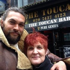 Jason & his mum in London