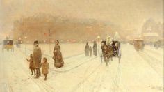 A City Fairyland by Childe Hassam (1859-1935) American Impressionist Artist