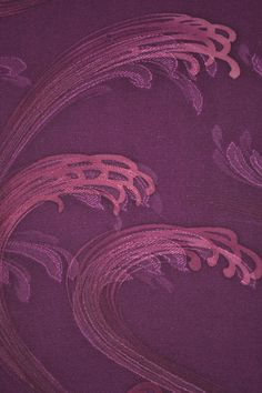 VINTAGE SILK KIMONO FABRIC:Dynamic Purple Tsunami@I46