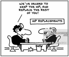 Hip Replacement funny cartoons from CartoonStock directory - the world's largest on-line collection of cartoons and comics. Surgery Quotes, Surgery Humor, Hip Hip Hurray, Hip Fracture, Medical Jokes, Qoutes, Funny Quotes, Hip Dysplasia, Ankylosing Spondylitis