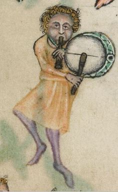 Detail from The Luttrell Psalter, British Library Add MS 42130 (medieval manuscript,1325-1340), f164v
