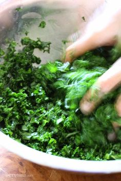 Massaged Raw Kale Salad - ONLY 4 ingredients!
