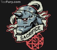Sacrifice T-Shirt $11 Fullmetal Alchemist tee at TeeFury today only!
