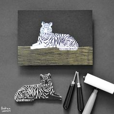 Andrea Lauren MAKING STAMPS: TIGER