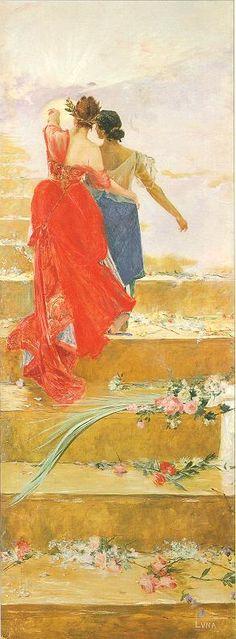 """""""Espana y Filipinas"""" - a painting that caught our eyes at Las Casas Filipinas de Acuzar"""