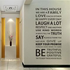Picture of House Rules Modren Romantic Word Quote Wall Decal Sticker Wall Lettering Wall Art 0748