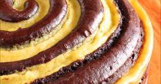 Torta spirale crema e cacao INGREDIENTI 300 g di farina 00 190 g di zucchero 4 uova 75 g di cacao am
